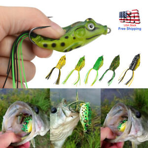 5PCS High Quality Fishing Lures Frog Topwater Crankbait Hooks Bass Bait Tackle