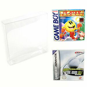 Nintendo Game Boy amp; Advance Plastic Box Protector Cases Clear .35mm Thick $8.52