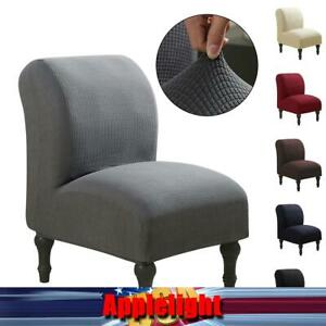 Slipper Chair Slipcover Stretch Armless Chair Accent Chair Cover Protector US