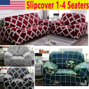 Sofa Slipcovers Stretch Furniture Universal Sofa Slip Covers Elastic 1 4 Seaters