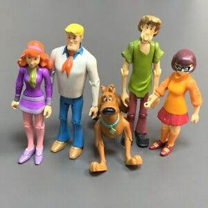 Rare Lot 5 Scooby Doo Velma Shaggy Daphne Dog Fred 5#x27;#x27; Action Figures toys Gifts