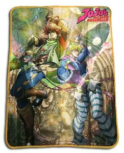 New JoJo#x27;s Bizarre Adventure Fleece Throw Gift Blanket Joseph Joestar Dio Brando $43.95
