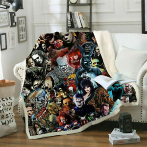 2020 New Cool Horror Movie 3D Print Sherpa Blanket Sofa Couch Quilt Cover Throw $35.99