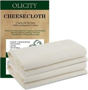 Grade 90 45Square Feet 100% Unbleached Cotton Fabric Ultra Fine Cheesecloth