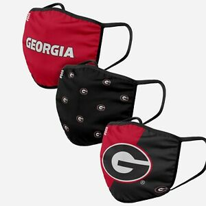 Georgia Bulldogs UGA Football NCAA 3 Pack Fan Mask Face Covering IN STOCK