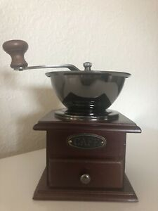 Norpro Coffee Grinder Adjustable Hand Crank Heavy Duty Beans 1 3 Cup Pre Owned