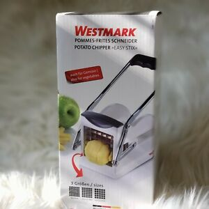 Potato French Fry Cutter Slicer With 3 Stainless Steel Blades