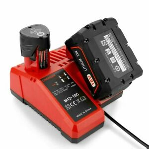 1 Pack Fast Charger for Milwaukee M12 M18 Lithium Ion Battery 48 11 2401