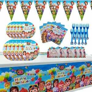 Cocomelon Party Supplies for Kids' Birthday Decoration Set Party Favor 10 Guests