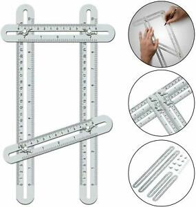 Multi Angle Ruler Measuring Tool Layout Template Stainless Steel Heavy Duty NEW $10.79