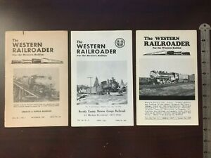 The Western Railroader Booklet Lot 1958 1963 1967 For the Western Railfan Trains