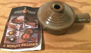 Stone Wave Microwave Cooker with Recipe Booklet and Instructions Barely Used