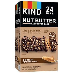 KIND Nut Butter Filled Snack Bars Chocolate Peanut Butter 24 ct.