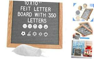 Gray Square Letter Board 10x10 Inch Felt Message Letter Board Including 350 Chan