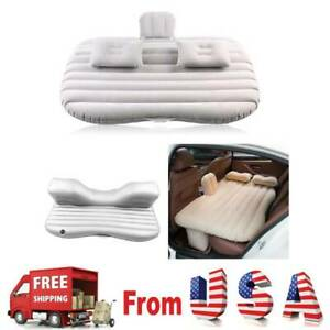 Car Air Bed Inflatable Mattress Back Seat Pads Cushion BLACK