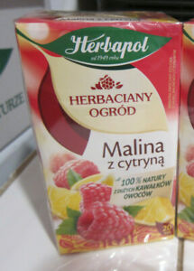 Herbapol Malina Z Cytryna Raspberry With Lemon Poland Fruit Herbal Tea bags