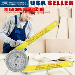 Miter Saw Both Arms Protractor Angle Finder Protractor Laser Engraved Dial Scale $7.59