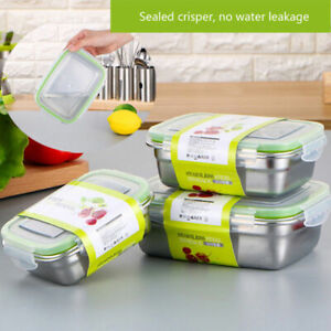 Stainless Steel Food Bento Storage Container Crisper Student Lunch Box