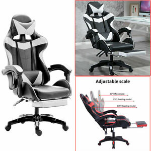 Ergonomic Computer Gaming Chair High back Chair Swivel Racing Chair Footrest US