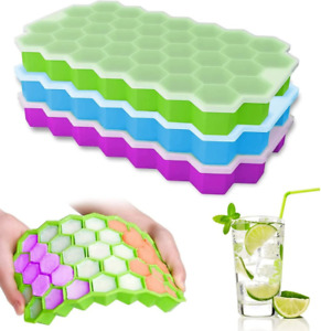 Silicone Ice Cube Tray with LidMaker Mold for Drinks Cocktails Whiskey 1 4 Pack