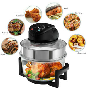 Halogen Convection Oven W Extension Ring 1400W Air Fryer 17 Quart Cooker Timer