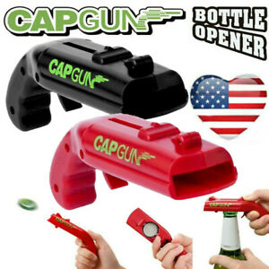 Creative Firing Cap Gun Flying Cap Shooter Launcher Bottle Beer Drink Openers
