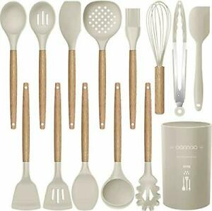 14 Pcs Silicone Cooking Utensils Kitchen Utensil Set 446°F Heat ResistantTurne