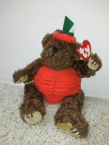 Ty Retired Attic Treasures Peter bear in pumpkin costume jointed limbs NWT $6.57