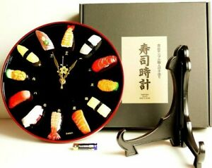Look like Real quot;Sushi Clockquot; Made Japanese Craftsman Food Sample Wall Table $143.90