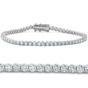 4ct Diamond Tennis Bracelet 14K White Gold 7quot;