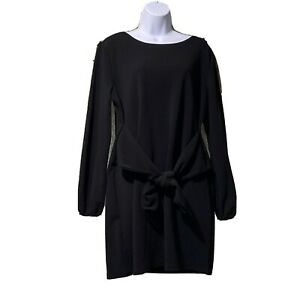 Womens Loose Casual Front Tie Long Sleeve Bandage Dress For Party Work Lounge $17.00