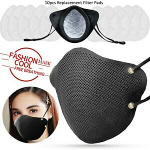 Reusable Silicone Face Mask with 10pcs Non Woven Filters amp; 2 Brackets in pack