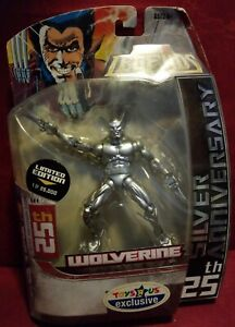 2006 Marvel Legends WOLVERINE 25th SILVER Anniversary Figure MIP Toys r Us $18.00