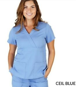 Ultra Soft Scrub Top Fashion Scrub SMALL Women Easy on Skin Scrubs 8115 CEILBLUE