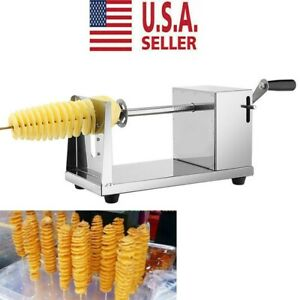 Manual Cutter Twisted Spiral Slicer Potato French Fry Vegetable Nontoxic Kitchen
