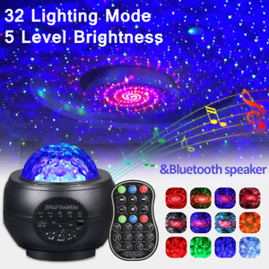 LED Galaxy Starry Night Light Projector Ocean Star Sky Party Speaker Lamp Remote $30.91
