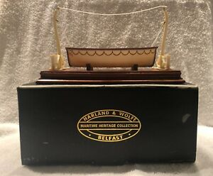 TITANIC..HARLAND amp; WOLFF LIFEBOAT MODEL PART OF THE MARITIME HERITAGE COLLECTION