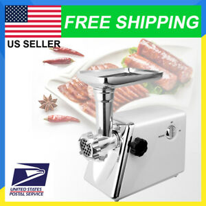 Commercial Electric Grinder Meat Stainless Steel Maker Sausage Kitchen Cutter US