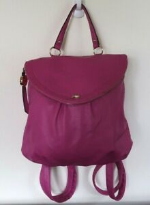 Juicy Couture Hot Pink Backpack Purse Handbag $32.90