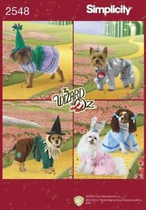 Simplicity Pattern 2548 Wizard Of Oz Dog Costume Sewing Sizes XS S M Craft $15.28