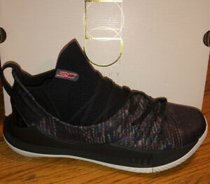 Mens Under Armour Curry 5 Black New in Box Size 11.5 Free Shipping $89.99