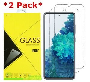 2 Pack Premium Tempered Glass Screen Protector For Samsung Galaxy S20 FE 5G $3.95