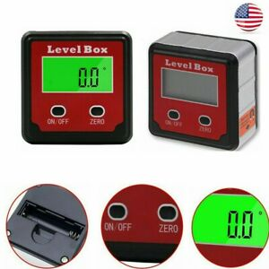 Electronic Digital Protractor Inclinometer Magnetic Level Case Measuring Tools $13.29