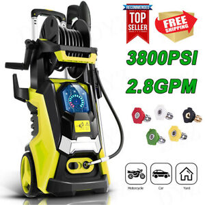 3800PSI 2.8GPM Electric Pressure Washer High Power Cleaner Sprayer 5 Nozzles $159.99