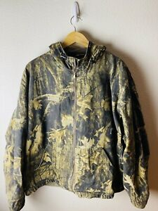 Columbia Hunting Vintage Camo Gore Tex Duck Hunting Jacket Mens Size XXL