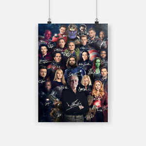 Stan Lee Avengers Signature Poster $14.99