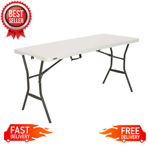 5 ft Portable Folding Table Camping Party Dining Picnic Handle Steel Frame NEW $46.99