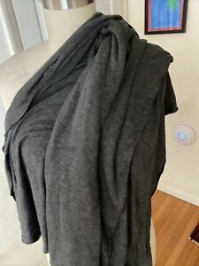 Dark Heather Gray Rayon Spandex Jersey Fabric Textile Sewing Quilting One Yard $9.99