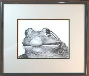 Frog FRAMED SIGNED LIMITED EDITION ART CARD by Jack Seery $32.50