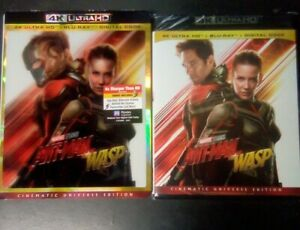 Ant Man And The Wasp 4K Blu Ray Digital With Lenticular Slip Cover New $19.99